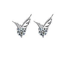 Női Beszúrós fülbevalók Divat aranyos stílus jelmez ékszerek Kristály Ezüstözött Szárnyak / Toll Ékszerek Kompatibilitás Esküvő Parti
