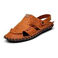 סנדלים-גברים של נעליים-שטח / משרד ועבודה / שמלה / קז'ואל / ספורט-עור נאפה Leather-חום