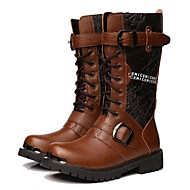 Personalizované materiály-Pohodlné Kovbojské Jezdecké boty Módní boty Boty s kolečky-Pánské-Černá Hnědá-Outdoor Kancelář Šaty Běžné Party