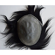 Super cienka skóra męskie tupety niewidoczny system wymiany węzłów naturalnych włosów dla mężczyzn poszukujących 8x10