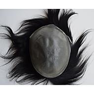 super tynn hud menns Tupeer usynlig knop hår erstatning system for menn naturlig jakt 8x10