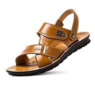 herresko nappa skinn utendørs / enkle sandaler utendørs / uformell idrett sandaler flat hæl hul-out svart / brun