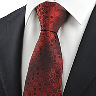 Puntíky-Kravata(Červená,Polyester)