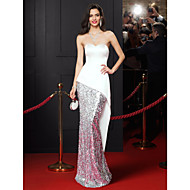 TS Couture® Prom  Formal Evening Dress Trumpet / Mermaid Sweetheart Floor-length Satin / Sequined with Sequins