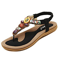 Women's Shoes Suede Vintage Bohemian Style Beach Flipflop Flat Heel Comfort / Open Toe Sandals Outdoor / Casual