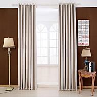 שני פנאלים טיפול חלון מודרני , מוצק חדר שינה ריון (משי מלאכותי) חוֹמֶר Blackout וילונות וילונות קישוט הבית For חַלוֹן