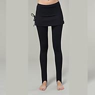 yokaland elegante ajuste estribo legging saia magro