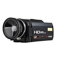 ordro® HDV-f5 con lente gran angular 1080p soporte de batería externa de la cámara de vídeo digital función de macro