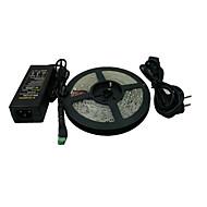 5M 600x3528 SMD bianca striscia luminosa a LED e connettori e AC110-240V a DC12V6A Transformer