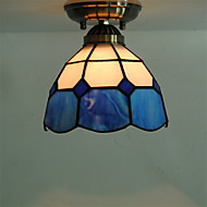 7inch Retro Tiffany Ceiling Lamp Glass Shade Flush Mount Living Room Dining Room light Fixture