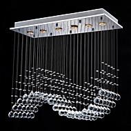 50W מנורות תלויות ,  מודרני / חדיש Electroplated מאפיין for קריסטל מתכת חדר שינה / חדר אוכל