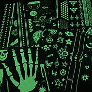 Stencils de Tatuagem TemporáriaAdolescente- dePVC-Verde-24*16*0.31