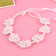 Women's / Flower Girl's Lace / Pearl Headpiece-Wedding / Special Occasion Headbands 1 Piece