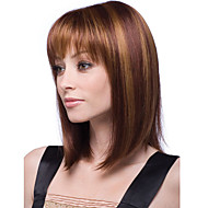 las mujeres cosplay corta el pelo rizado peluca sintética marrón