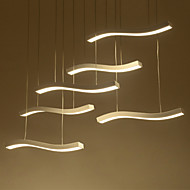 Wavy Design 90W LED Fashion Simple Acrylic Pendant Lights 6 lamp Living Room / Bedroom / Dining Room / Study Room/Office