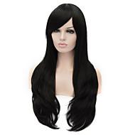 parrucca di capelli neri nuova luce i capelli lunghi Moda europea e americana
