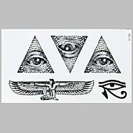 tatuaje de la manera del ojo Angell negro pegatinas impermeable tatuaje