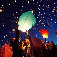 Wishing Lanterns Flying Balloons Lights Halloween Lights Chinese Sky Laterns Paper Candle Wish Lamp (Ramdon Color)