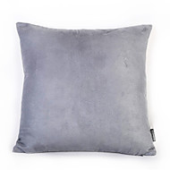 Gray Color Suede Cushion Cover