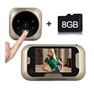 Besteye®3.0Inch Door Camera with 8GB TF Card 4 IR Night View Wide Angle Lens Digital Door Viewer