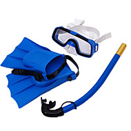 Snorkelpakker Dykking Finner Dykkermasker Snorkler Svømmebriller Snorkelsett Dykking og snorkling Svømming Neopren Gul Grønn Blå Svart