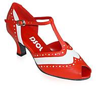 Scarpe da ballo-Personalizzabile-Da donna-Moderno / Scarpe da swing-Quadrato-Sintetico-Rosso