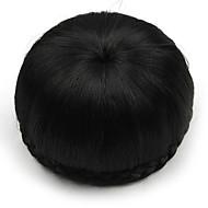 excêntricas encaracolados pretos humanos cabelo rendas perucas chignons 2