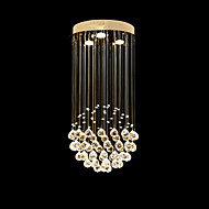 "Modern Ceiling Crystal Lamps Chandeliers Pendant Lights Lighting with Spherical Design D11.81"" H23.62"" UL VDE"