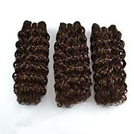 3pcs / lot kurze jerry curl Omber Farbmischung Haar Haarverlängerung Weberei