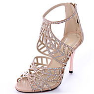 Women's Shoes Fabric Stiletto Heel Heels / Peep Toe / Open Toe Sandals Party & Evening / Dress / CasualBlue