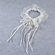 Garter Stretch Satin / Lace Ribbons / Beading Ivory
