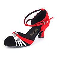 Customized Women's Leatherette With Suede Upper Modern Dance Shoes(More Colors)