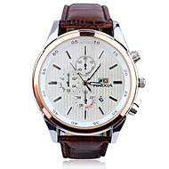Voor Stel Modieus horloge Handmatig opwindmechanisme Legering Band Glitter Bedeltjes Zwart Bruin Zwart Bruin