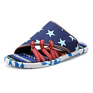 Men's Shoes Canvas Athletic / Casual Slippers & Flip-Flops Athletic / Casual Sports Sandals Flat Heel Lace-up Blue