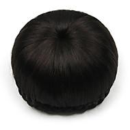 excêntricas encaracolados humanos chignons perucas de cabelo de renda preta 2/33