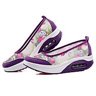 נעלי נשים-סניקרס אופנתיים-תחרה / טול-פלטפורמה / מעוגל-סגול / אפור-שטח / קז'ואל / ספורט-פלטפורמה