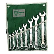 berrylion® 8 sett med kombinasjonsnøkler åpningsnøkkel sett kit maskinvare håndverktøy