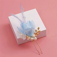 Femme Plume / Cristal / Alliage / Imitation de perle / Tissu Casque-Mariage / Occasion spéciale Epingle à Cheveux 1 Pièce