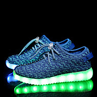 LED Light Up Shoes,Boys' and Girls' Casual Tulle Fashion Sneakers Black / Blue / Green / Pink