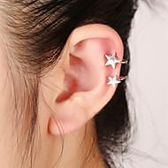 Unisex Fashion Gold/Silver Star Clip-On Ear Cuffs Earrings Jewelry (1 PC,10g)