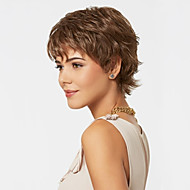 Capless Mix Color Extra Short High Quality Natural Curly Hair Synthetic Wig with Side Bang