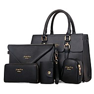 Women PU Formal / Casual / Office & Career / Shopping Tote / Bag Sets White / Purple / Blue / Red / Black