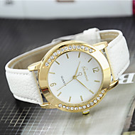 Women's Fashion Watch Casual Strap Watch Quartz Imitation Diamond Leather Band Black White Blue Red Brown Green Pink Purple Beige Rose