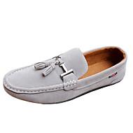 Men's Summer Comfort Fleece Casual Flat Heel Black Blue Gray