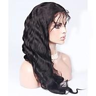 pelucas llenas del cordón bajos de seda virgen frente del cordón de la onda del cuerpo sin cola brasileño pelucas densidad de 150% con