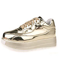 Women's Shoes Leatherette Platform Creepers Fashion Sneakers Outdoor / Casual Silver / Gold