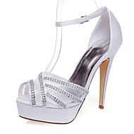 סנדלים-נשים-נעלי חתונה-עקבים-חתונה / שמלה / מסיבה וערב-לבן