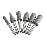 Carbide Cutter Rotary Burr Set CNC Engraving Bit Rotary File,Set of 6