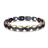 צמידים שרשרת וצמידים פלדת על חלד טיפול מגנטי יומי / קזו'אל תכשיטים מתנות שחור,1pc