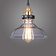 Max 60W מנורות תלויות ,  וינטאג' Electroplated מאפיין for סגנון קטן מתכתחדר שינה / חדר אוכל / מטבח / חדר עבודה / משרד / חדר ילדים / כניסה
